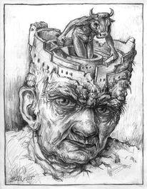 Figur, Kopf, Allegorie, Kopfwelten