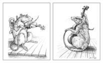 Zeichnung, Tiere, Ratte, Figur