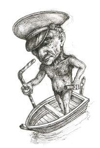Boot, Wasser, Steuermann, Figur