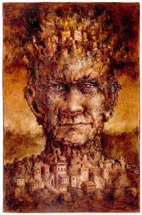Portrait, Zeichnung, Felsen, Figur