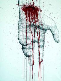 Blut, Freitod, Poesie, Pulsadern