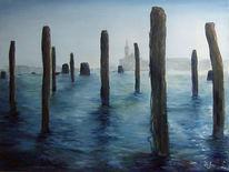 Landschaft, Meer, Blau, Wind