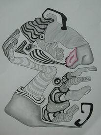 Surreal, Feine, Grafit, Zeichnung