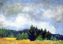 Pastellmalerei, Hohes venn, Eifel, Landschaftsmalerei