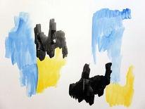 Schubertj73, Blech, Mischtechnik, Aquarellmalerei
