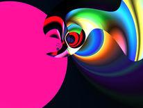 Liebe, Zärtlichkeit, Digital, Abstrakt
