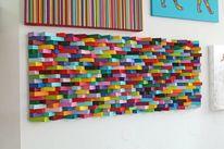 Abstrakt, Kinder, Streifen, Malerei