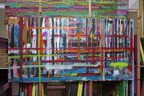 Gemälde, Engel, Abstrakt, Blumen