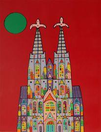 Menschen, Abstrakt, Kirche, Malerei