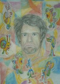 Zeichnung, Individualisten, Portrait, Zeichnungen