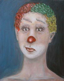 Lachen, Frau, Clown, Akt