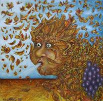 Herbst, Gold, Wind, Laub