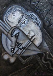 Malerei, Berlin, Portrait, Menschen