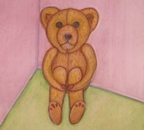 Teddybär, Ecke, Starr, Allein