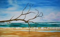 Landschaft, Wasser, Malerei, Strand