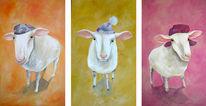 Malerei, Figural, Schaf