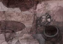 Zeichnung, Grimm, Zeichnungen, Wolf