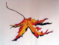 Bunt, Herbst, Blätter, Zeichnungen