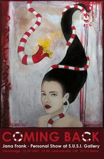 Malerei, Ausstellung, Einladung, Pinnwand