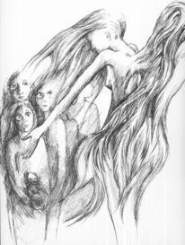 Engel kinder augen, Zeichnungen, Mosaik