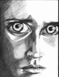 Augen, Zeichnungen, Portrait