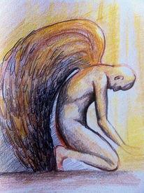 Engel licht flügel, Zeichnungen, Mosaik