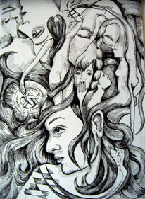 Zeichnung, Surreal, Zeichnungen