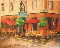 Hausansicht, Freiburg, Malerei, Landschaft