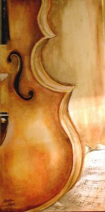 Stillleben, Geige, Malerei,