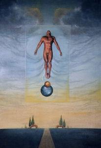 Freiheit, Liberta, Ölmalerei, Fliegen