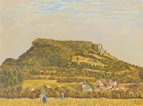Ehrenbürg, Ölmalerei, Landschaft, Kirchehrenbach