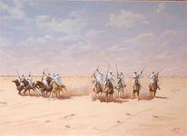 Orientalismus, Pferde, Reiten, Orientalistische malerei