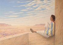 Malerei, Arabisch, Afrika, Malen