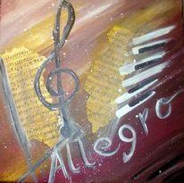 Abstrakt, Malerei, Musik, Klavier