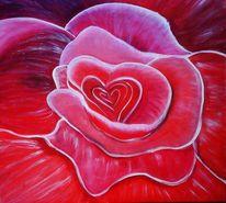 Malerei, Surreal, Rose
