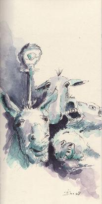 Esel, Schrei, Lampe, Erleuchtung