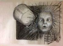 Kohlezeichnung, Tod, Zeichnen, Flüsterer