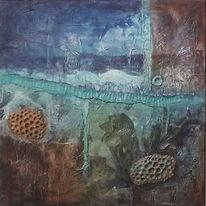 Mischtechnik, Acrylmalerei, Spachteltechnik, Abstrakte malerei