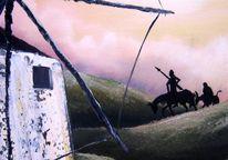 Mühle, Sonnenuntergang, Don quichotte, Landschaft