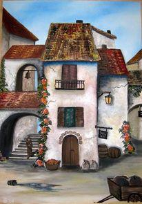 Mittelalter mönch stadt, Malerei, Mittelalter