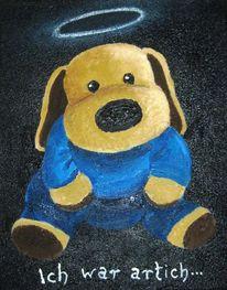 Hund, Stofftier, Malerei, Tiere