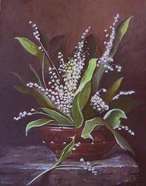 Stillleben, Frosch, Malerei, Blumen