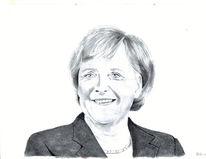 Bundeskanzlerin, Portrait, Zeichnung, Angela merkel