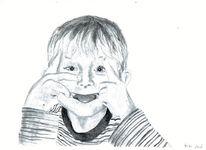 Kinderportrait, Portrait, Realismus, Zeichnung