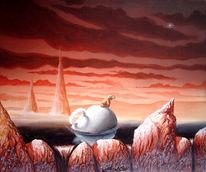 Felsen, Tasse, Sonnenaufgang, Rot schwarz