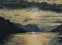 Berge, Vierwaldstättersee, Landschaft, Wasser
