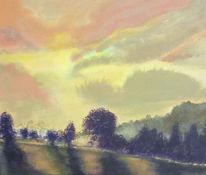 Malerei, Landschaft, Nebel
