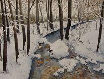 Winter, Schnee, Schweiz, Kanal