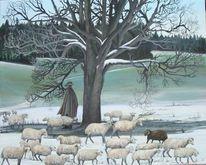 Luzern, Herd, Winter, Kälte
