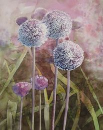 Frühling, Garten, Aquarellmalerei, Malters